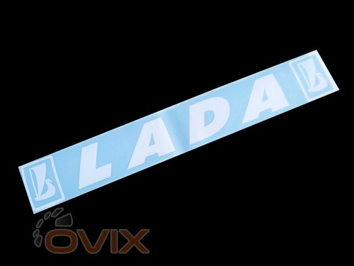 Украина Наклейка на автомобиль (заднее стекло) Lada, белая (h=110 мм, l=700 мм) - Картинка 1