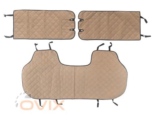 Auto Fortuna Чехлы автомобильные майки универсальные LUX (ромб) комплект - Картинка 3