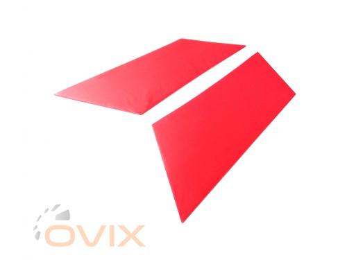Autoelement Накладки задних стоек ВАЗ 2101, 2102, 2103, 2104, 2105, 2106, 2107 (красные) - Картинка 2