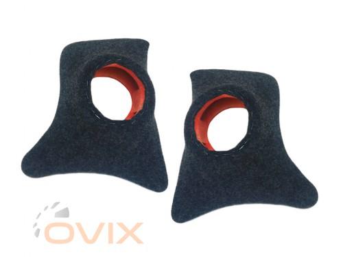 Autoelement Накладки уголки передние с подиумами на 13 см ВАЗ 2101, 2102, 2103, 2104, 2105, 2106, 2107 (карпет) - Картинка 1