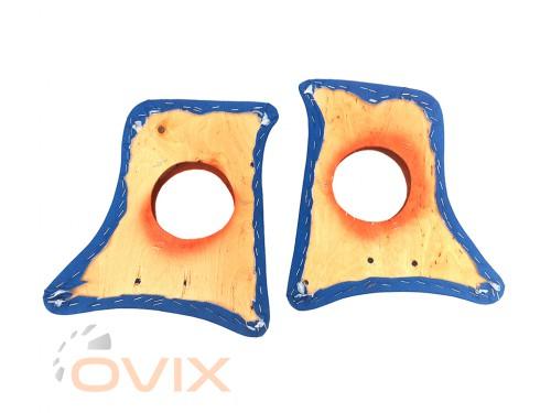 Autoelement Накладки уголки передние с подиумами на 13 см ВАЗ 2101, 2102, 2103, 2104, 2105, 2106, 2107 ромб (синие) - Картинка 3