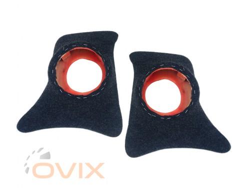 Autoelement Накладки уголки передние с подиумами на 16 см ВАЗ 2101, 2102, 2103, 2104, 2105, 2106, 2107 (карпет) - Картинка 1
