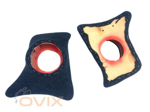 Autoelement Накладки уголки передние с подиумами на 16 см ВАЗ 2101, 2102, 2103, 2104, 2105, 2106, 2107 (карпет) - Картинка 2
