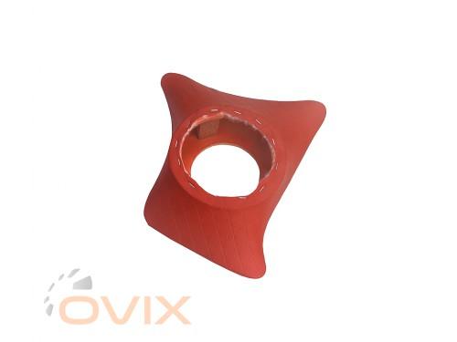 Autoelement Накладки уголки передние с подиумами на 16 см ВАЗ 2101, 2102, 2103, 2104, 2105, 2106, 2107 ромб (красные) - Картинка 2